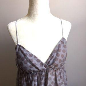 Anthropologie Splendid Silk Blend Polka Dot Dress